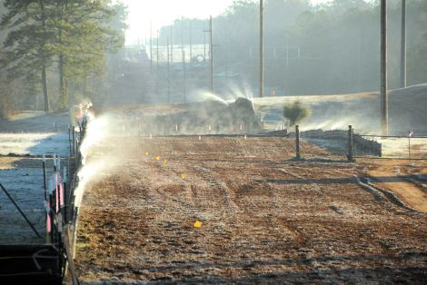 """Steaming Silt Fence"", copyright 2011 Shannon M Herren, All Rights Reserved"